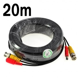 20M RJ59 Power and Video CCTV BNC Cable