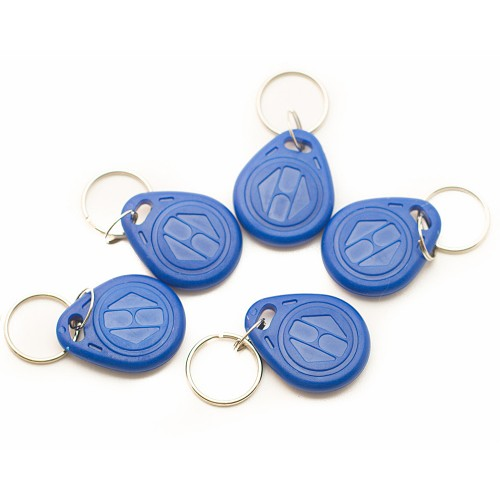 Door Access Keychain RFID 125Khz  Tag Blue (5 Pieces)