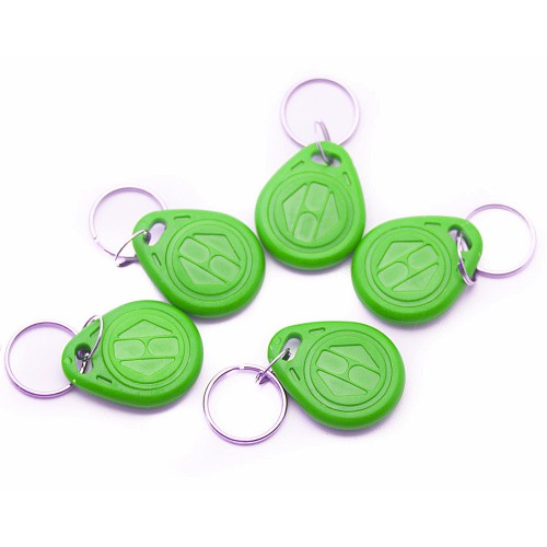 Door Access Keychain RFID 125Khz Tag Green (5 Pieces)