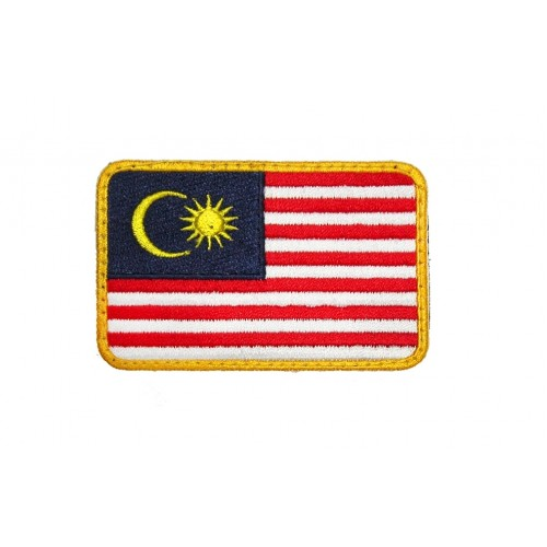 Malaysian Flag Rectangular (Rounded Edge) with Velcro Patch